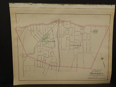 Conneticut, New Haven County Map, City of Waterbury Dbl Side Dbl Pg 1893 R4#89