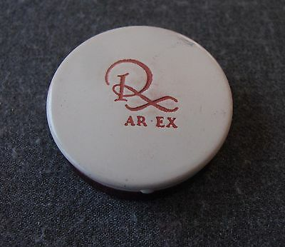 Vintage Ar Ex Cosmetics Enameled Metal Compact With Puff