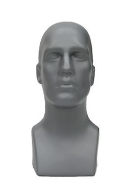 Abstract Male mannequin Head Light weight Style Display Head #PS-M-GY