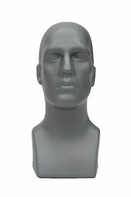 Male Abstract Mannequin Head Light weight Style Display #PS-M-GY