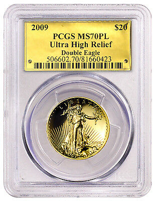 2009 Ultra High Relief Gold Saint-Gaudens Double Eagle $20 PCGS MS70 PL SKU23047
