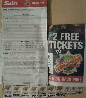 Chessington World of Adventures 2 Free Adult Tickets Complete Booking Form