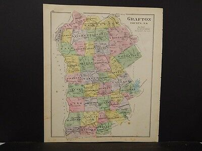 New Hampshire, Grafton County Map,  Reversible 1892 L4#14