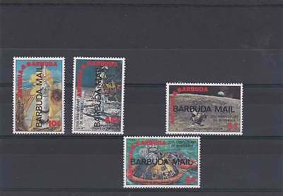 BARBUDA 20th ANNIVERSARY OF FIRST MANNED LANDING ON MOON SET 1990 SG.1172-75 MNH