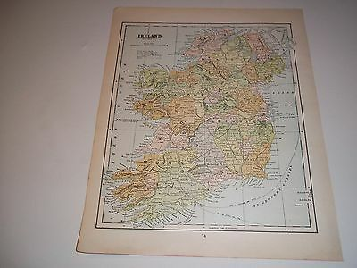 1900 ANTIQUE IRELAND  color map original authentic