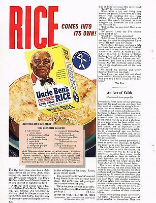 1949 OLD MAGAZINE PRINT AD,Uncle Ben's Rice