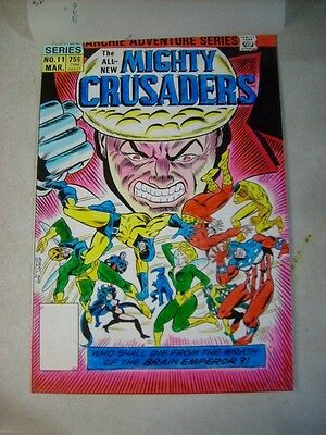 Mighty Crusaders #11 Cover Art - Original Color Guide, Shield, Ayers!!