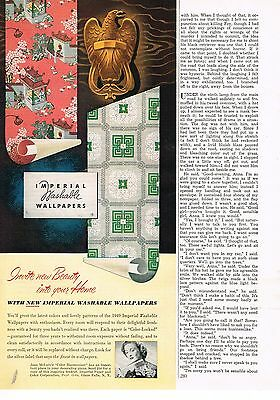 1949 OLD MAGAZINE PRINT AD, Imperial Washable Wallpapers