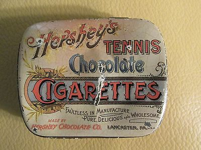 "Vintage Tin Hershey's Tennis Chocolate Cigarettes Lancaster Pa. 2 1/2"" x 1 3/4"""