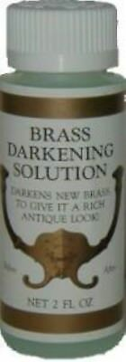 2oz (Ounce) - Brass Ager Darkening Solution antique vintage old dull patina blac