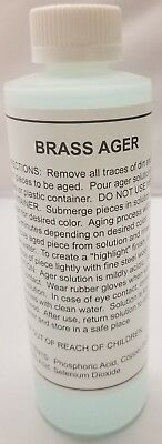 Brass Darkening Solution - 8 oz.  Antique Vintage old dull furniture restore