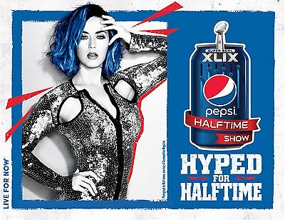 """Katy Perry """"superbowl Xlix 2015 - Hyped For Halftime Pepsi Show"""" Concert Poster"""