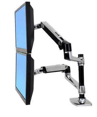 Ergotron 45-248-026 - LX DUAL STACKING ARM - NOTEBOOK & TFT OR 2X TFT