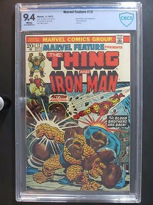 Marvel Feature #12 -NEAR MINT- CBCS 9.4 NM -Marvel 1973- Blood Brothers & Thanos