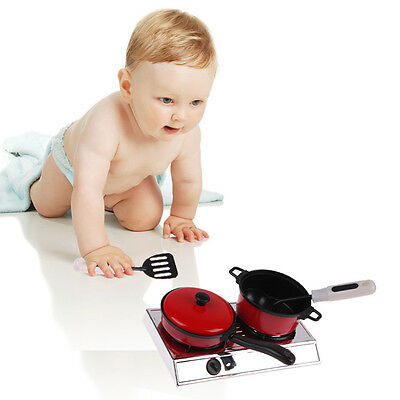 13PCS Baby Play Kitchen Utensils House Toy Cooking Pots Pans Food Dish Cookware