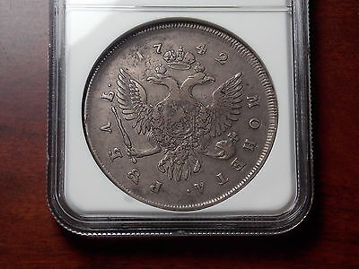 1742 Russia Rouble silver coin NGC VF-20