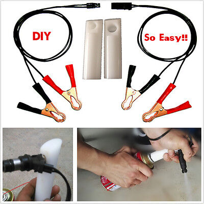 Fuel Injector Flush Cleaner Adapter DIY Kit Set Car Vehicle Cleaners Tool New