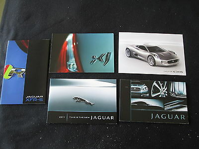 2009 2010 2012 2014 Jaguar Five (5) Brochure Catalog Card Set XJ  XKR XF & XFR-S