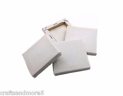 Pack of 4 - Mini Framed Canvas - 70mm x 70mm - New