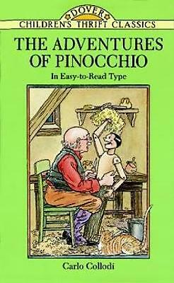 The Adventures of Pinocchio by Carlo Collodi (English) Paperback Book Free Shipp