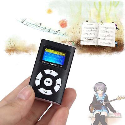 MP3 Music Player With Digital LCD Screen Mini Clip Susport 32GB Micro SD TF SS