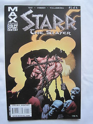 STARR the SLAYER 1 by DAN WAY, RICHARD CORBEN.EXPLICIT CONTENT.MARVEL MAX COMICS