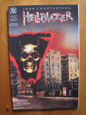 Hellblazer #  46. Garth Ennis  &  Will Simpson.  Vertigo. 1991  Classic Comic