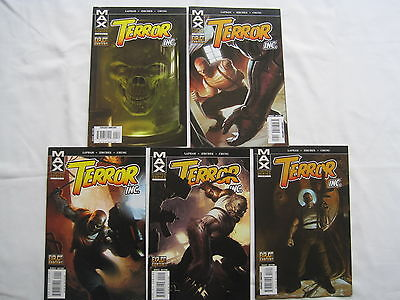 Terror Inc : Complete 5 Issue Series. Explicit Content. Marvel Max.2007