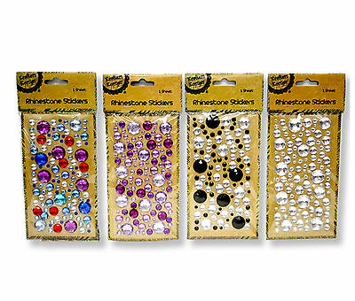Rhinestones Crystals Stickers ~ Choose Purple Black Clear Assorted