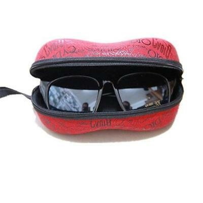 New Portable Zipper Eye Glasses Sunglasses Clam Shell Hard Case Protector Box IP