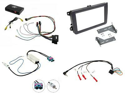 CTUVW03 Complete Double Din Stereo Fitting Kit VW Tiguan 2015 onwards