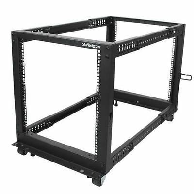 StarTech.com 4POSTRACK12U - 12U Adjustable Depth Open Frame 4 Post Server Ra...