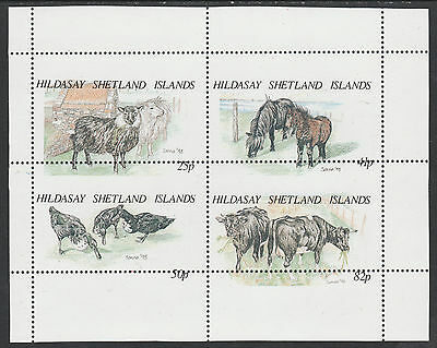 GB Locals - Shetland Is 2462 - ANIMALS sheet with MISPLACED PERFS unmounted mint