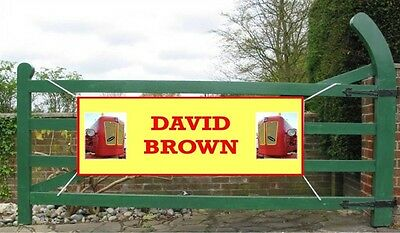 "42"" X 20"" Heavy Duty David Brown Promotional Banner"