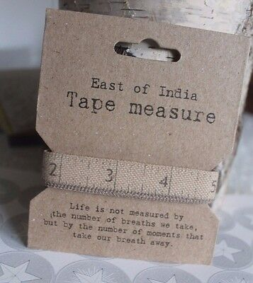East of India Tape Measure  - Fabric Vintage Style Gift Sewing Craft 60 Inches