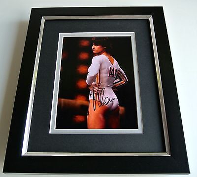 Nadia Comaneci SIGNED 10X8 FRAMED Photo Autograph Display Olympic Gymnastics COA