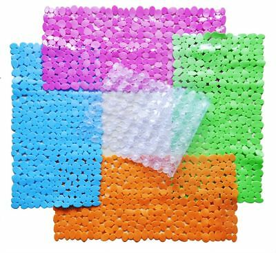 Large Pebble Shower Mat Bathroom Suction Anti Non Slip Bath Wet Room Toilet Deco