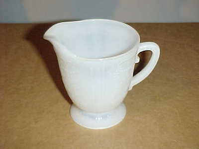 Macbeth Evans American Sweetheart Monax White Footed Cream Pitcher