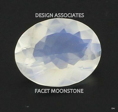 Rainbow Moonstone Faceted OVAL Cut Calibrated 16x12 MM White Color Natural Gem
