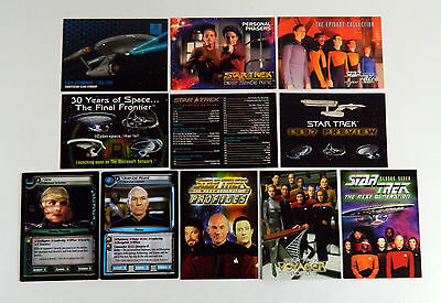 11 Different Star Trek Promo Cards TCG Cards Checklist * Voyager DS9 TNG