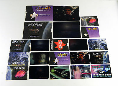 9 Different Star Trek SkyMotion Cards + 5 Different Exchange Cards * Phase 2 ++