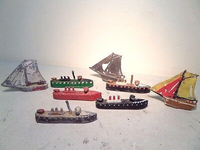 Selection of Antique Lead Toy Boats