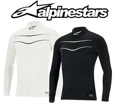Alpinestars Race Top FIA Approved Race Underwear - Black / White