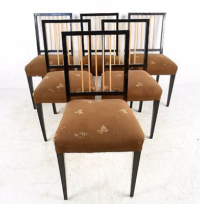 Set of Six Mid-Century Italian Dining Chairs (7220)JR