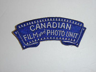 c0061 WW2 Army Canadian Film and Photo Unit Patch R10C