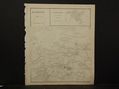 New Hampshire,Carroll County Map, Sandwich, Reversible Single Page 1892 L4#32