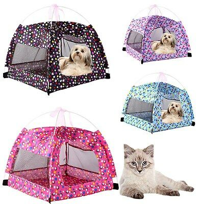 New Pet Tent Mesh Summer Breathable Dog Indoor House Printing Cat Kennel Bed Mat