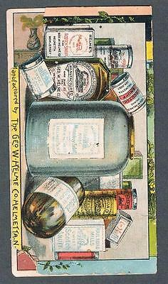 Original 1900's Helmes Snuff Remedy Advertising Trade Card