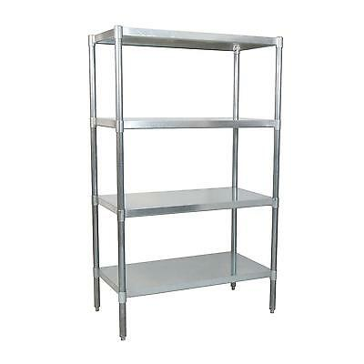 "BK Resources SSU6-3124 31""Wx24""Dx72""H Stainless Steel Dry Storage Shelving Unit"