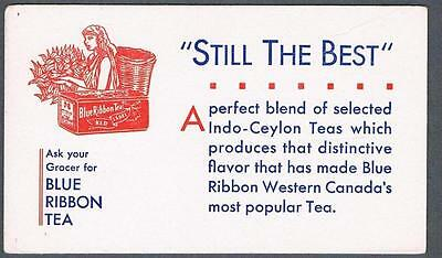 Original 1940's Blue Ribbon Tea Advertising Blotter